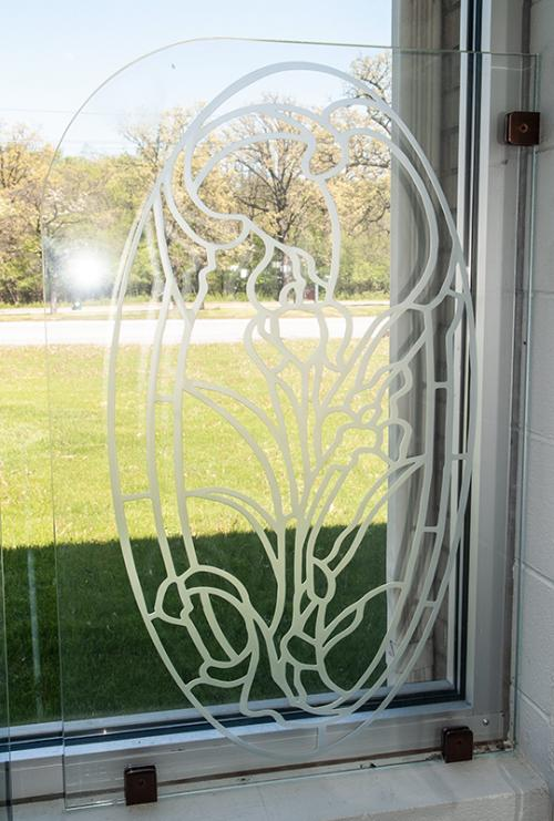 Sandblasted artwork