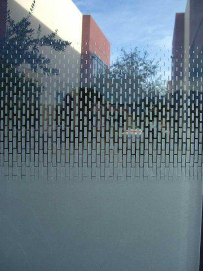 Sandblasted glass wall